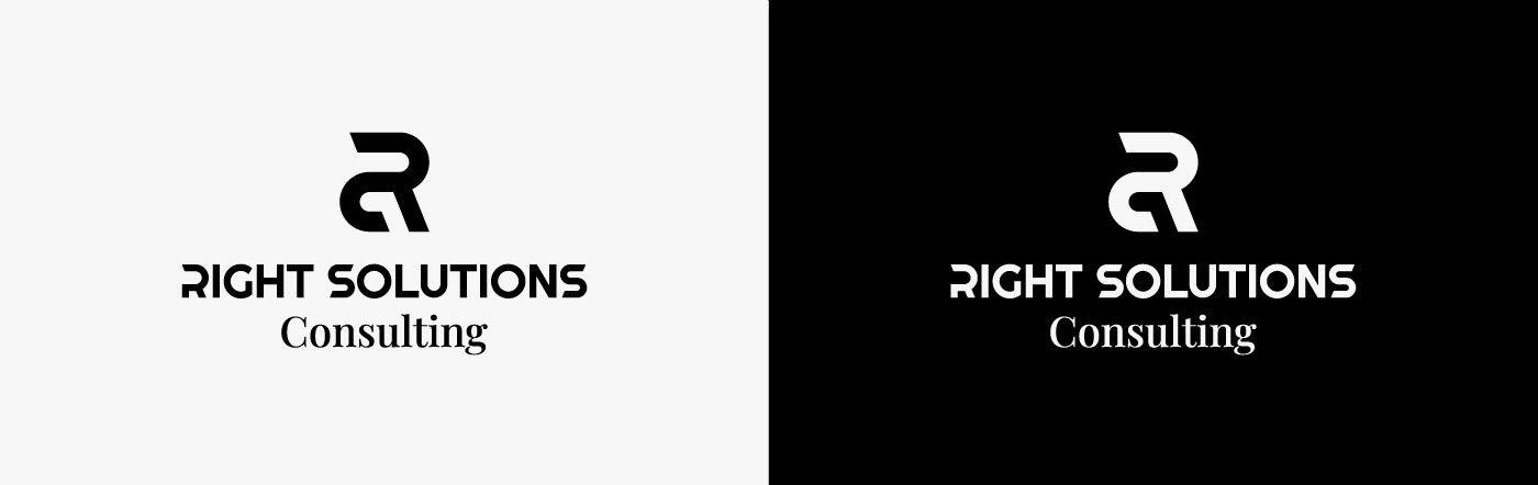 Real Solutions Consulting Logo positivo negativo