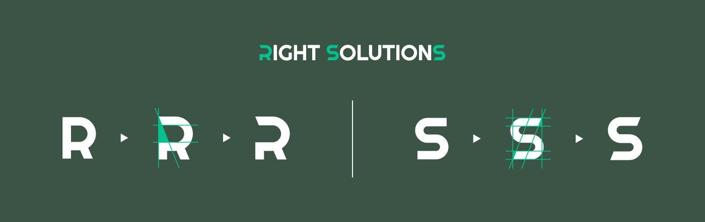 Right Solutions Consulting Logo Aggiustamenti Tipografia