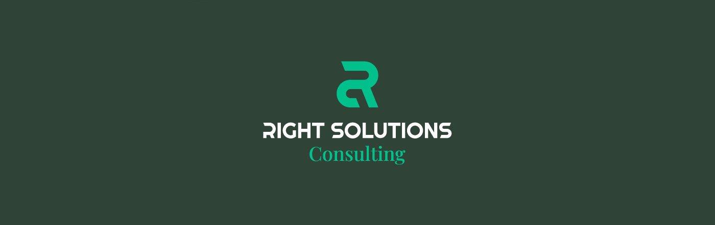 Right Solutions Consulting Logo a colori versione negativa